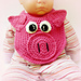 Lil' Oinker Drool Bib, spit burp Pig or Piglet crochet pattern