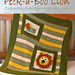 Peek-a-Boo Lion Baby Blanket pattern