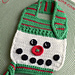 Button Nose Snowman Baby Bib pattern