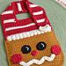 Gingerbread Baby Bib pattern