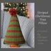 Striped Christmas Tree Pillow pattern