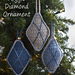 Argyle Diamond Christmas Tree Ornament pattern
