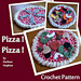 Pizza! Pizza! Hot Pad, play food, flyer pattern