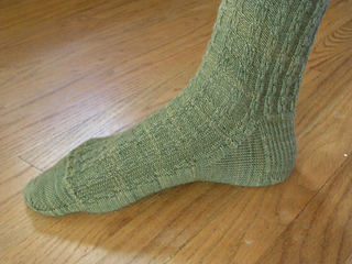 The Witty One's First Handknit Socks