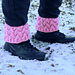 Strawberry Fluff Boot Cuffs pattern