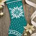 Winter Green Snowflake Stocking pattern