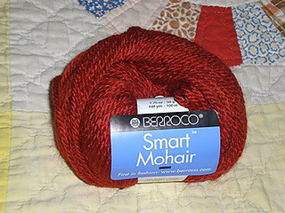 Berroco Smart Mohair 50g1.75 oz Color 8855 Red Rust color 41/% Mohair yarn
