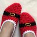 Christmas Slipper Socks pattern