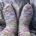 Zig Zag Ribbon Socks pattern