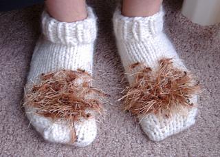 Ravelry Hobbit Feet Slippers Pattern By Joan Of Dark Aka Toni Carr