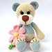 Teddy with Flower pattern