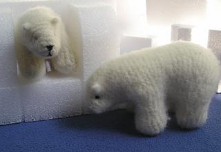 Polar bears on an iceberg