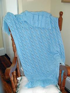 Blue Eyelet Blanket for Danny