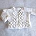 Crocodile Stitch Baby Sweater pattern