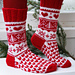 0-566 Socks with Christmas pattern pattern
