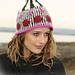 108-29 Knitted hat in pattern pattern