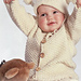 b3-6 Jacket, hat with pompoms, mittens and socks pattern