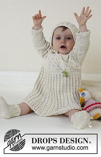 Sunday Stoll Knit Baby Dress Free Pattern
