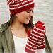 204-19 b Candy Cane Lane Set, Mittens pattern