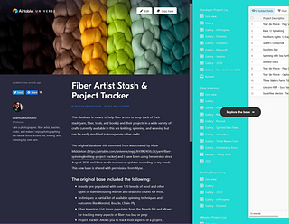 Find my Fiber Artist Stash & Project Tracker on https://airtable.com/universe/exp2ECKpqFND7LwOz/fiber-artist-stash-and-project-tracker