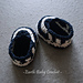 Baby Booties Striped Boat Shoes pattern