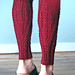 Rosebud and Purl Legwarmers pattern