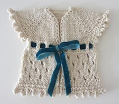 Free  Very Pretty Baby Cardigan Knitting Pattern