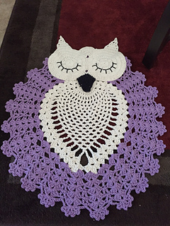 Ravelry Sleepy Owl Rug Pattern By