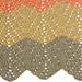 Double V-stitch Ripple Blanket pattern