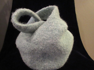 Small Felted Knot Bag by Elaine Liner