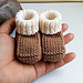 0-6 Months Baby Booties pattern