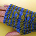 Single Cable Ribbed Wristwarmers pattern