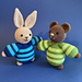 Banjo the Bunny and Benedict the Bear pattern