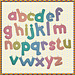 Alphabet Mobiles - Lowercase pattern