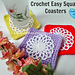 Easy Square Coaster pattern