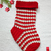 Jolly Pebbles Xmas Stocking pattern