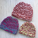 Chunky Tri-Color Messy Bun Hat pattern
