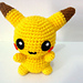 Pikachu Pokemon Amigurumi pattern