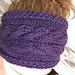 Corn Rows Cable Headband pattern