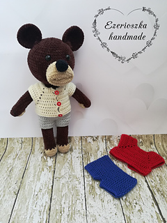 Amigurumi Bear in Nightdress Free Crochet Pattern - #Amigurumi ... | 320x240
