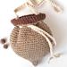 Acorn pouch bag pattern