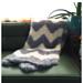 Furry Chevron Baby Blanket pattern
