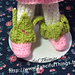 Crochet Leaf Topped Fairy Boots pattern