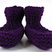 Easy-Peasy No Sew, Stay On Baby Booties pattern