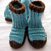 Magic Loop Warm and Chunky Baby Booties pattern