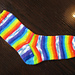 Blue Skies and Rainbows basic sock pattern pattern