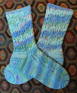 Crystals, 'Combs and Cables Socks