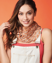 Fossil and Sand Cowl Crochet Pattern by Ruth Haydock