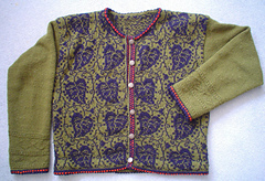 Poetry in Sts leaf cardi