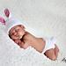 Crochet Lil Bunny hat and diaper pattern newborn pattern